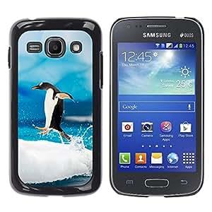 All Phone Most Case / Oferta Especial Duro Teléfono Inteligente PC Cáscara Funda Cubierta de proteccion Caso / Hard Case Samsung Galaxy Ace 3 // Jumping Penguin
