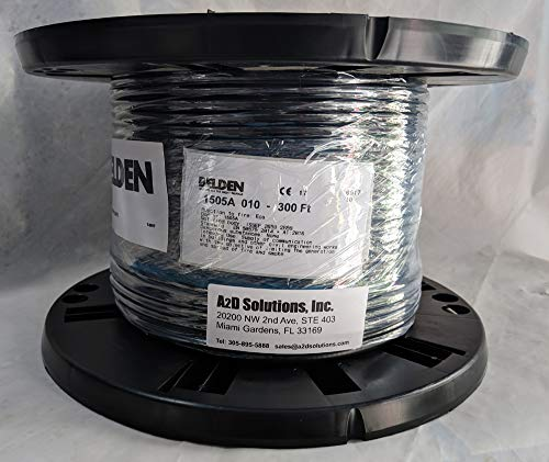 300 Ft. - Belden 1505A RG59/20 HD and SDI Digital Coaxial Cable - Black ()