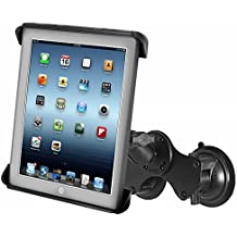 Ram Mount RAM-B-189-TAB3U RAM Double Twist-Lock™ Suction Cup Mount with Tab-Tite™ Universal Spring Loaded Cradle for the Apple iPad 1-4 With Or Without Light Duty Case