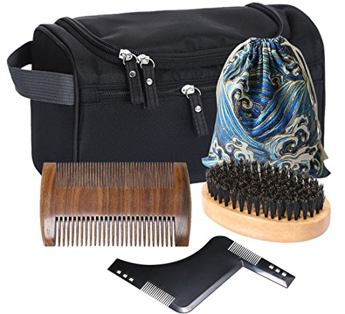 mming Kit for Men Care - Toiletry Bag,Beard Comb,Beard Brush, Beard Shaping Tool,Cotton Carrying Bag, Shaping & Growth Gift set (Maximum Growth Gift Set)