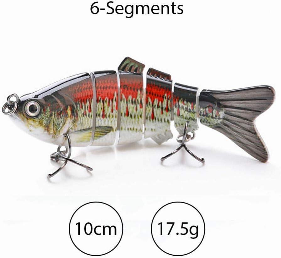 MJGW Esche Pesca Esche da Pesca affondanti Wobblers 10 cm 17,5 g 6 Esche Artificiali Multi snodate Esche Artificiali Artificiali luccio//Esca da Pesca Basso Crankbait