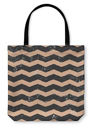 Gear New Shoulder Tote Hand Bag, Zig Zag Pattern, 18x18, 3428628GN