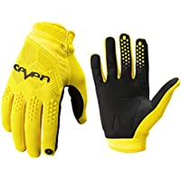 Redcolourful MTB Cycling Gloves Moumtain Bike Windproof Gloves Off Road MTB Motocross Anti-Slid Motorbike Glove Yellow S for Auto Accessory