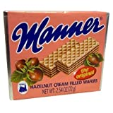 Euro American Brands Manner Hazelnut Cream Wafers, (Pack Of 12)