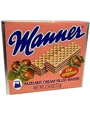 Euro American Brands Manner Hazelnut Cream Wafers, (Pack Of 12)