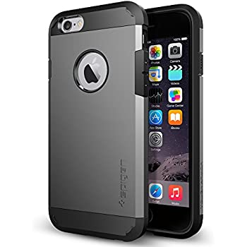 Spigen Tough Armor iPhone 6 Case with Extreme Heavy Duty Protection and Air Cushion Technology for iPhone 6S/iPhone 6 - Gunmetal
