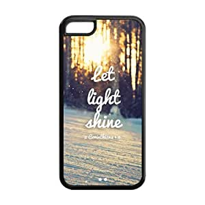 Bible Verse Inspirational Quote Protective Rubber Cell Cover Case for iPhone 5C,5C Phone Cases by lolosakes