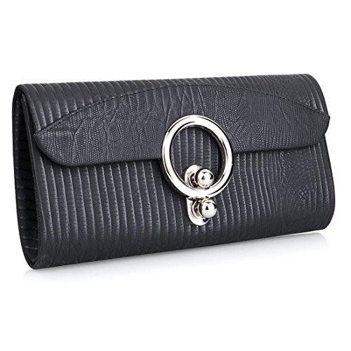 Envelope Shoulder Black Clutch Strap with Party Bags Chain Handbags Womens Shoulder Wedding Mini Bag Evening HI5wIq1