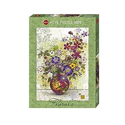 Heye Vd 29664 Puzzle Vaso Rosa Crowther 1000 Pezzi 50 X 70 Cm