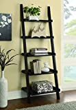 Coaster Transitional Cappuccino Ladder Bookcase with 5 Shelves