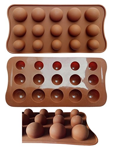 Truffle Chocolate Mold (ADS Silicone Chocolate Mold - Dome Top Truffle - 15 Cavities - 3 Sizes)