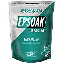 Epsoak SPORT Epsom Salt for Athletes - 5 lbs. ENERGIZING. All-natural, therapeutic soak with Eucalyptus and Peppermint Essential Oil