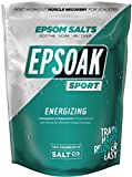Epsoak SPORT Epsom Salt for Athletes - 5 lbs. ENERGIZING Therapeutic soak with Eucalyptus and Peppermint Essential Oils