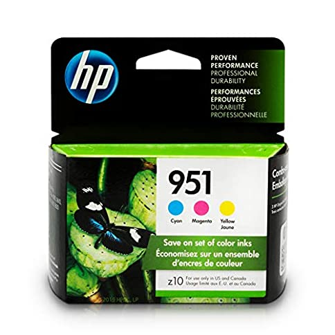 - 515ZVjGDXOL - HP 951 Ink Cartridges: Cyan, Magenta & Yellow, 3 Ink Cartridges (CN050AN, CN051AN, CN052AN)