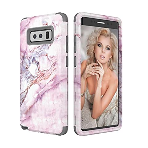 Galaxy Note 8 Case, Asstar 3 In 1 [Soft Silicone + Hard PC] Unique Marble Design Anti-Scratch Shockproof Anti-Finger Protective Cover Case for Samsung Galaxy Note 8 2017 (Otterbox Privacy Screen Iphone 5)