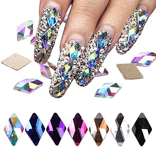- Clearance!70Pcs Flatback AB Crystal Rhinestone Gems Pearls 3D Nail Art Decoration Kit Glitter Nail Art Craft by Fxbar
