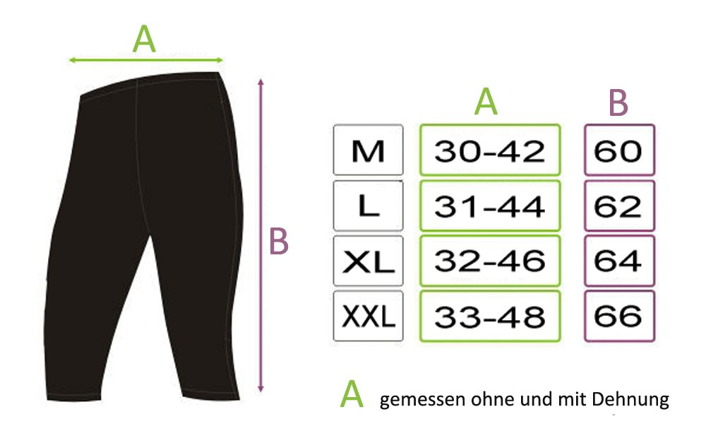 ROUGH RADICAL Herren Funktions Laufhose Fitnesshose Tights Rapid 3//4