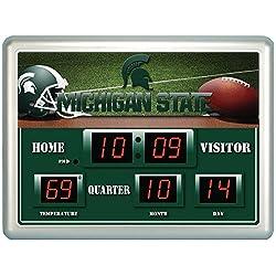 Michigan State Spartans Scoreboard Wall Clock
