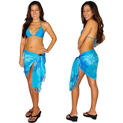 1 Media mundial Dye Sarong Sarong el mujeres Mini cubre para Tie Uni que efecto de azul rOqrw8Z