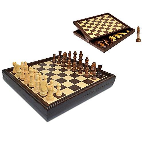 Merchant Ambassador GF022 Craftsman Natural Wood Veneer Deluxe Chess Set