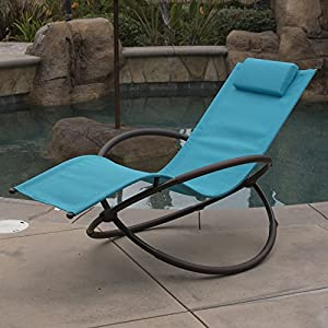 Belleze Folding Orbital Zero Gravity Recliner - Ocean Blue