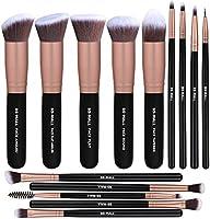 BS-MALL Makeup Brushes Premium Synthetic Foundation Powder Concealers Eye Shadows Makeup 14 Pcs Brush Set, Rose Golden,...
