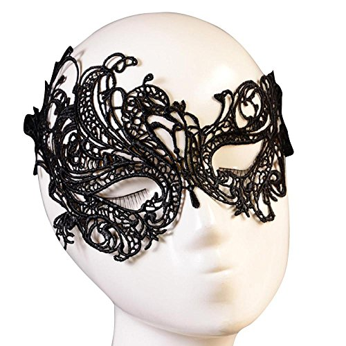[Mask, Yasalu Fashion Sexy Lace Eye Mask Masquerade Ball Halloween Party] (Halloween Costumes With Gas Mask)