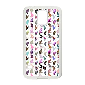 Danny Store Colorful Cats Protective TPU Rubber Back Fits Cover Case for Samsung Galaxy S5