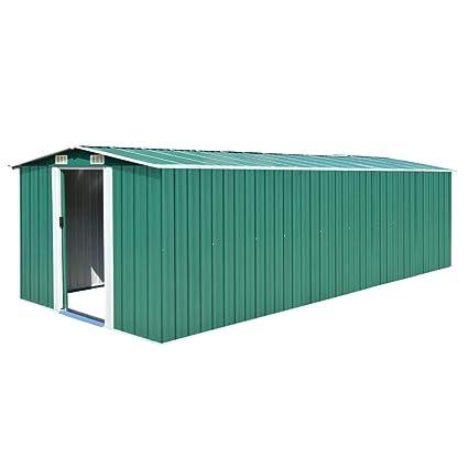 tidyard Caseta de Jardín Exterior con 4 Ventilación para Almacenamiento de Herramientas de A Prueba de