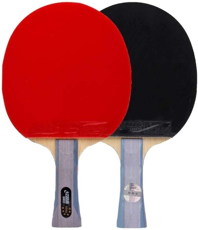 Los murciélagos Lerten Profesional ofensivo Mesa de ping pong, seis estrellas del ping-pong de la raqueta, de doble cara antiadherente, adecuados for jugadores avanzados / Como se muestra / Mango Cort