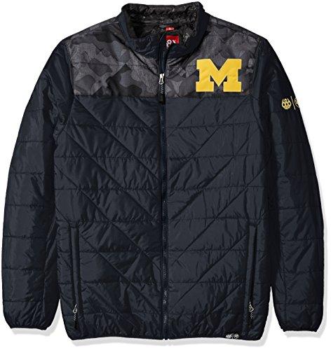 686x47 NCAA Michigan Wolverines Men's Flight Insulated Jacket, Large, Michigan Navy