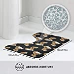 NiYoung Non Slip Contour Bath Mats for Toilet/Absorbent Water/Dry Fast/Machine-Washable/Perfect for Bathroom,Tub and Shower(15.8x19.3 Inches,Rough Collie Dog) 6