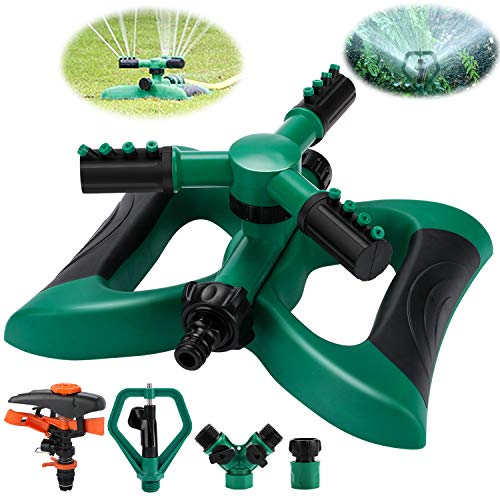 Philonext Garden Sprinkler,Lawn Watering Sprinkler,Automatic 360 Rotating Lawn Sprinkler with a Large Area of Coverage Adjustable Lawn Irrigation System (Butterfly)