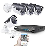 TECBOX AHD DVR 4 Channel CCTV Security Camera System with 4 HD 720P Outdoor Indoor Cameras Remote View Motion Detection No Hard Drive Installed Review