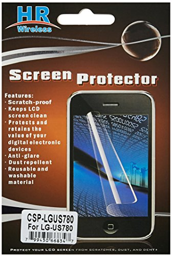HR Wireless LG Optimus F7 US780 Clear Screen Protector - Retail Packaging - Regular