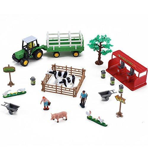 Farming Fun Playset Tractor Dairy
