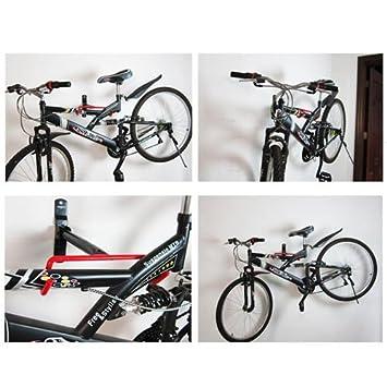 FiNeWaY@ - Soporte colgador para bicicletas de almacenamiento con un sistema de fijación a la pared con tornillos: Amazon.es: Deportes y aire libre