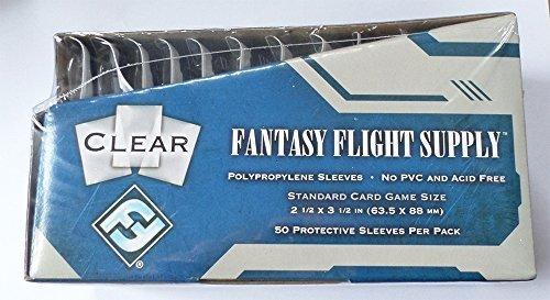 500 Fantasy Flight Games Standard Card Game Size Sleeves - 10 Packs + Box - FFS05 63.5 x 88 by Fantasy Flight Games from Fantasy Flight Games