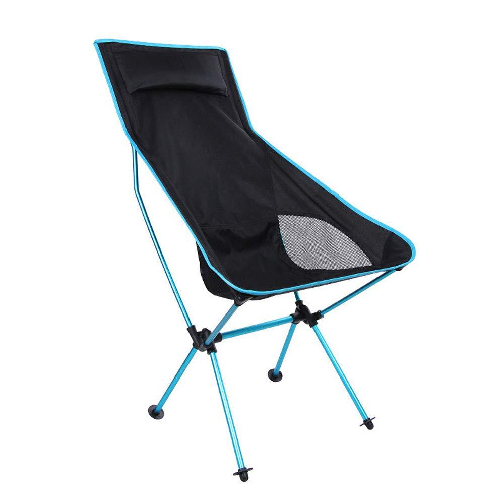 Portable Aluminium Multifunktions Camping Angeln Strand Wandern Wandern Klappliege für den Außenbereich Klappbarer Campingstuhl (Farbe   Blau)