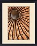 Framed Print of Antique guns arranged in circle on wall in Amber Fort, Jaipur, India