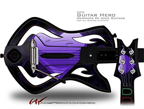 Purple Skin Fits Guitar (Glass Heart Grunge Purple Decal Style Skin - fits Warriors Of Rock Guitar Hero Guitar (GUITAR NOT INCLUDED))
