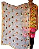 Summer Sale - Phulkari ( Hand Made soft) Buti dupatta for women and girls
