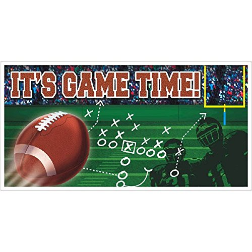 Amscan Football Party Large Horizontal Banner - Plastic