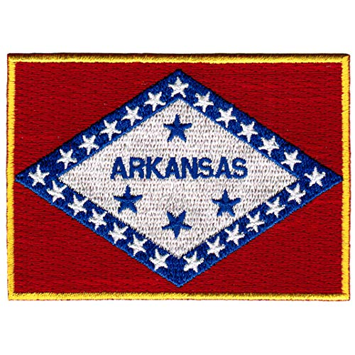 Arkansas State Flag Embroidered Patch Iron-On AR Emblem