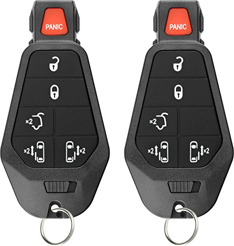 KeylessOption Keyless Entry Remote Control Car Key Fob Starter Alarm for Caravan Town Country VW (Pack of 2)
