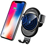 Wireless Car Charger,Lamyik Gravity Wireless Fast Charger Car Mount Air Vent Phone Holder for Samsung Galaxy S8/S7/S7 Edge, Note 8/5, iPhone X/iPhone 8 Plus/iPhone 8