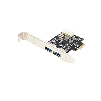 Yeung Qee PCI-E a USB 3.0 Tarjeta Express de 2 Puertos, 2 ...