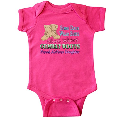 - Inktastic - Daddy's Boots Air Force Daughter Infant Creeper 18 Months Hot Pink