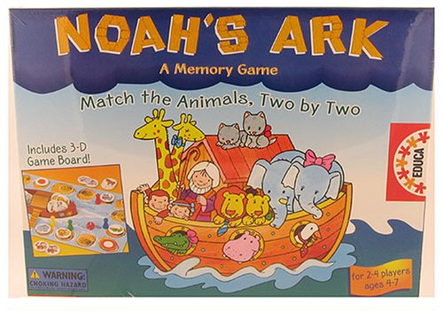 Noah's Ark, a Memory Game: Match the Animals Two By (Noahs Ark Animal Match Game)