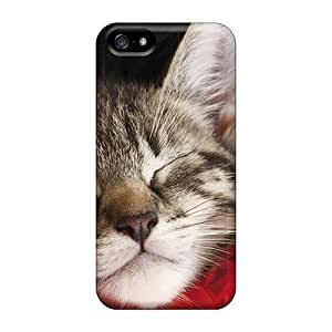 Awesome Sleeping Kitten Flip Case With Fashion Design For Iphone 5/5s
